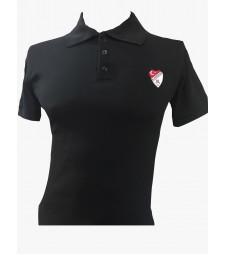 Polo Yaka Tişört Siyah